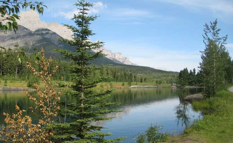 Quarry Lake Park Canmore Alberta Rocky Mountain